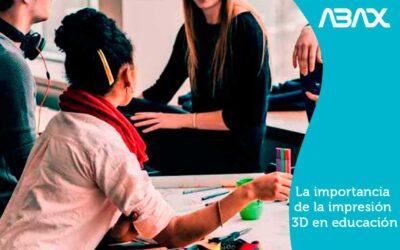 La importancia de la impresion 3D en educacion: formación en 3D