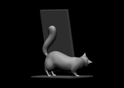 sujeta-móviles gato y ratón (back)