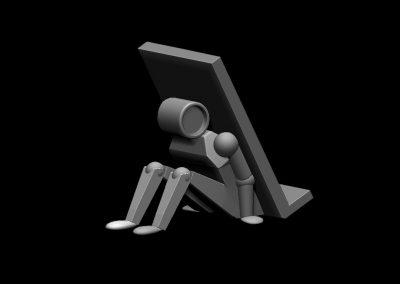 sujeta-móviles hombre-robot