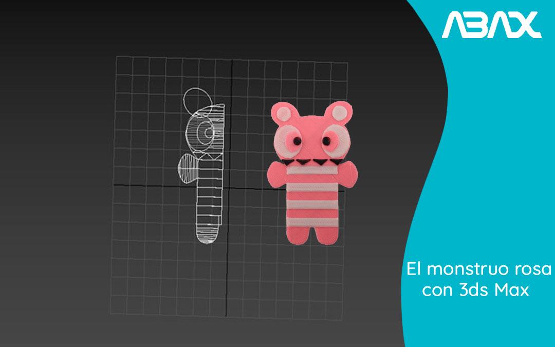 El monstruo rosa diseñado con Autodesk 3ds Max