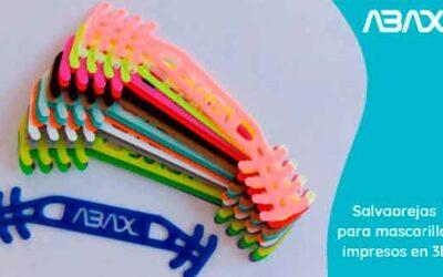 Salvaorejas para mascarillas, fabricados con impresora 3D