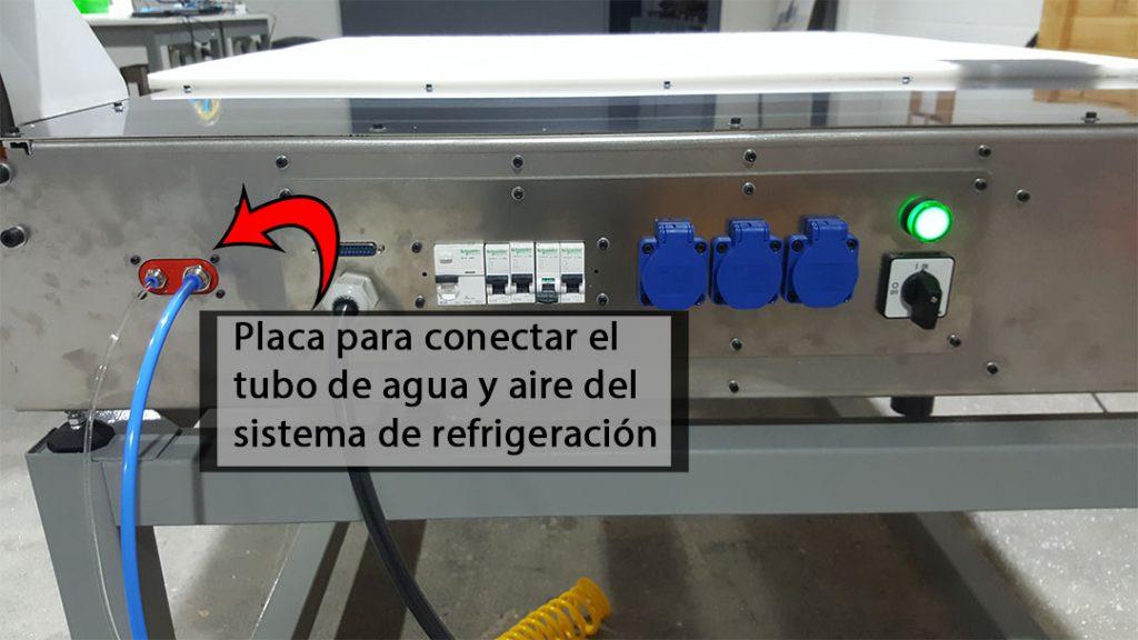 placa-sistema-refrigeración-fresadora