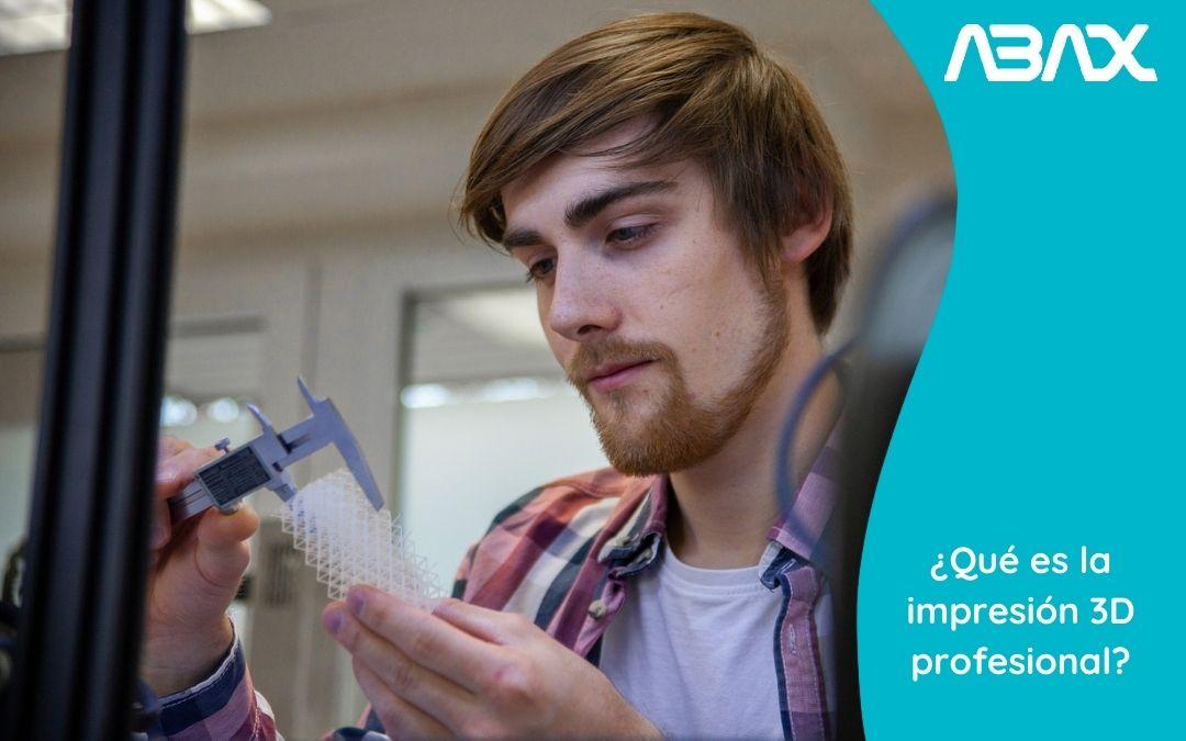 ¿Qué es la Impresión 3D Profesional?