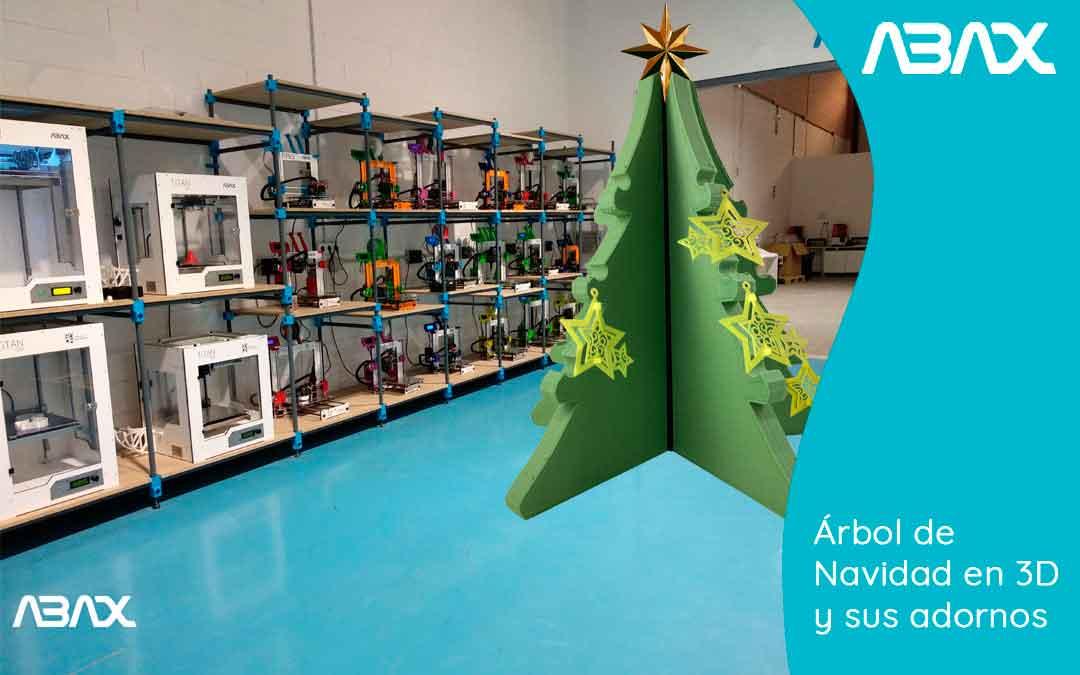 Árbol de Navidad impreso en 3D y sus adornos