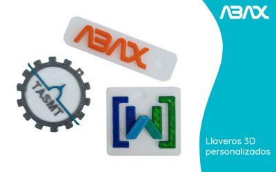 Llaveros 3D personalizados hechos con impresora 3D