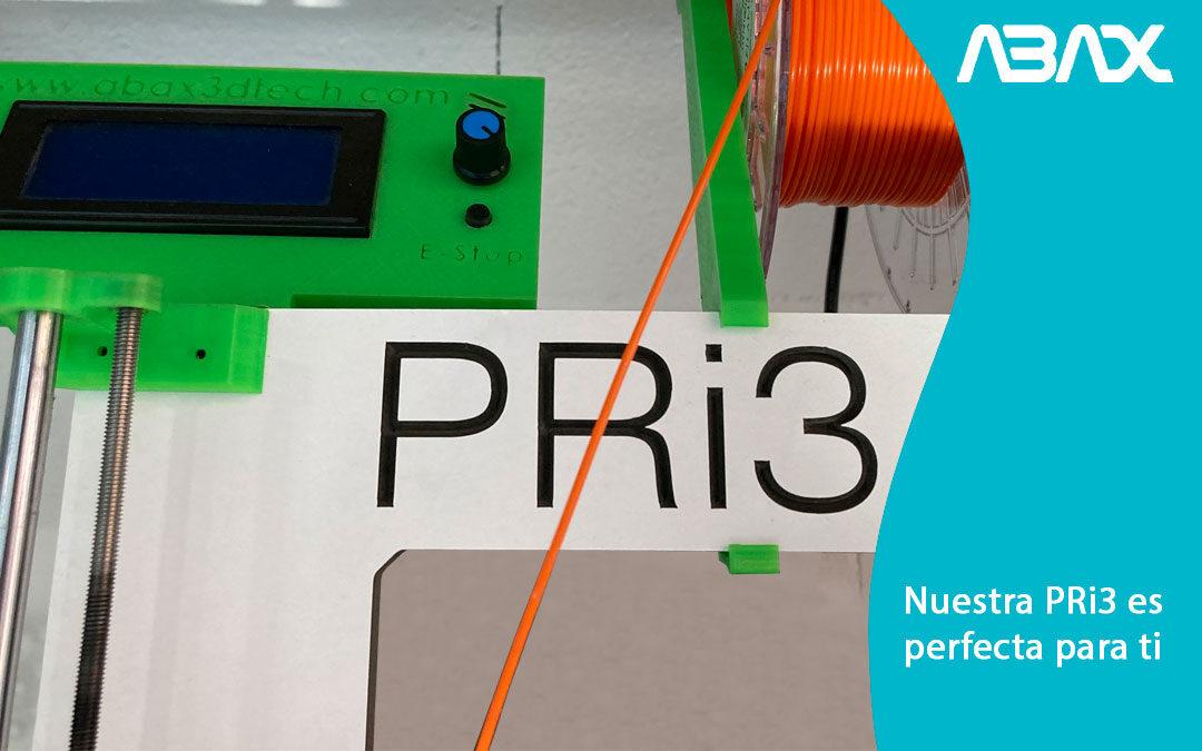 Tienda de impresoras 3D Madrid: nuestra PRi3 es perfecta para ti