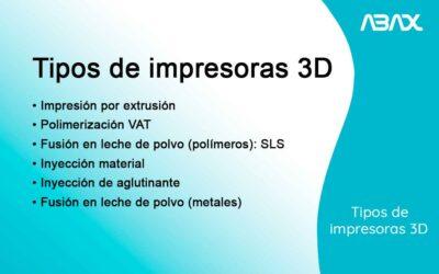 Los tipos de impresora 3D