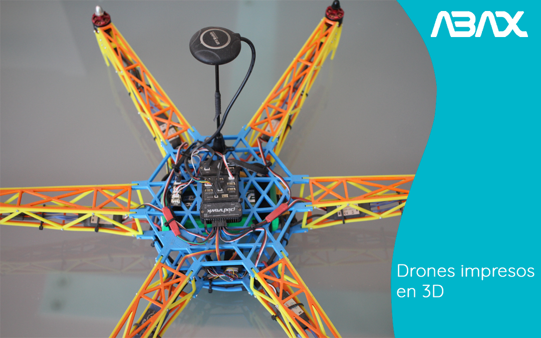 Drones impresos en 3D, la revolución en el mercado de drones