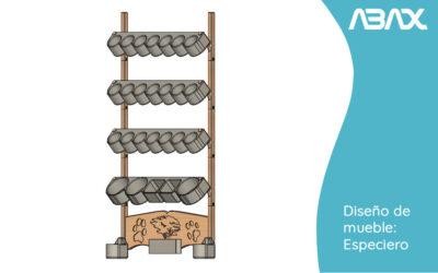 Diseños impresora 3D – especiero pared